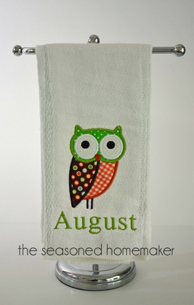 Owl Applique for Baby