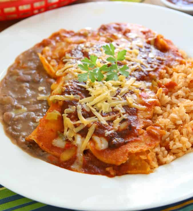If you love Tex-Mex, then you will love my Gluten-Free Enchilada Dinner. I've included my fool-proof enchilada sauce, spanish rice, and refried beans recipes. I learned how to cook Tex-Mex to perfection while living in South Texas. I've converted everything to gluten-free and only use fresh ingredients.
