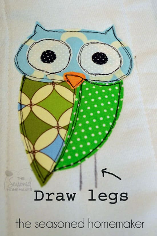 Owl Applique Burp Cloth