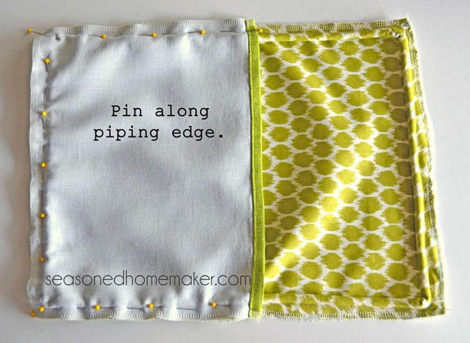 How To Make A Throw Pillow With Piping : How to Add Piping to a Pillow
