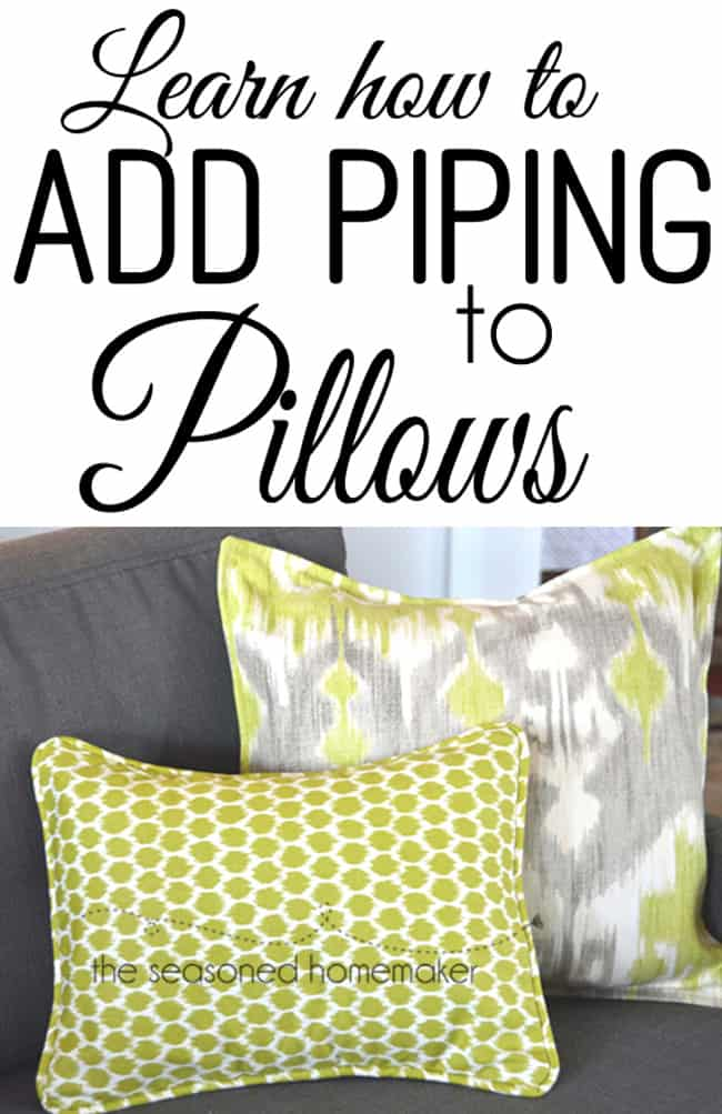 Making piping is so easy. Adding piping to a pillow is simple, too. All you need to do is learn a few basic steps and you will be a master. This popular pin has all the details.