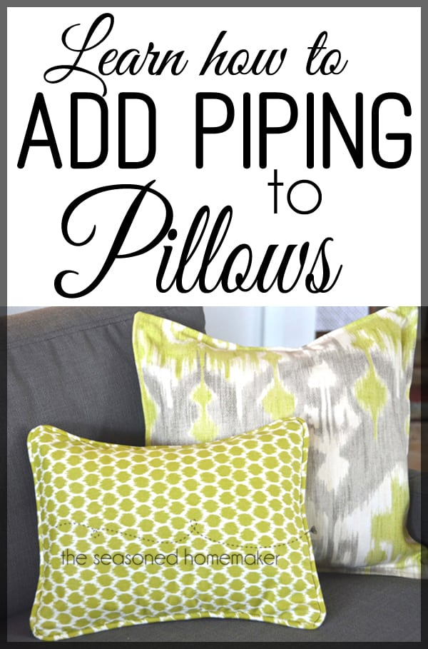 Add Piping to Pillows