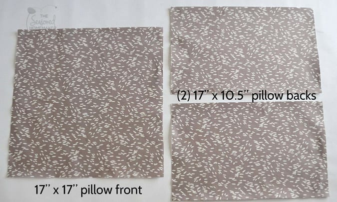Learn how to make an envelope pillow. I've also included instructions for making French Seams. Making simple pillows couldn't be easier.