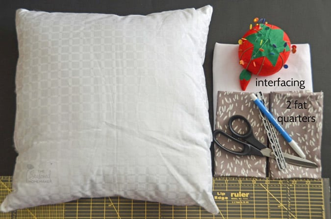how to make an envelope pillow with a french seam the seasoned homemaker. Black Bedroom Furniture Sets. Home Design Ideas