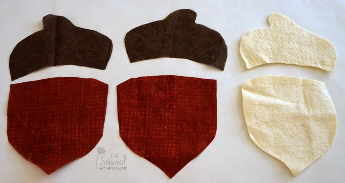 Fall Sewing Project. Make some adorable acorn coasters. Dress up your fall decor with these acorn coasters.