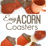 How to Make Acorn Coasters