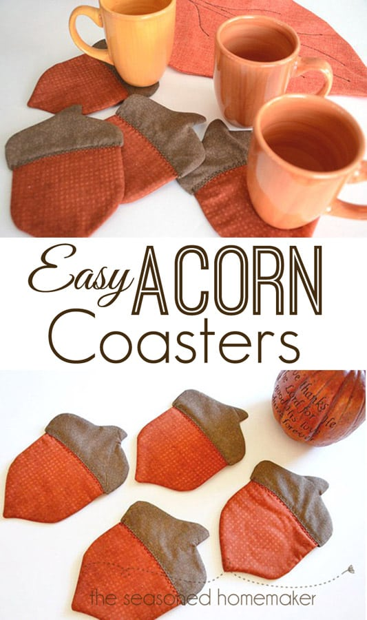 Looking for a popular Fall DIY Project? Try making these adorable acorn coasters. They will add just a touch of Fall to your Fall Decor. Easy to make, fun to give away.