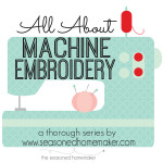 If you are thinking about getting a sewing machine that includes Machine Embroidery then you will want to read All About Machine Embroidery. I have 31 Popular Posts that cover every possible thing you could want to know.