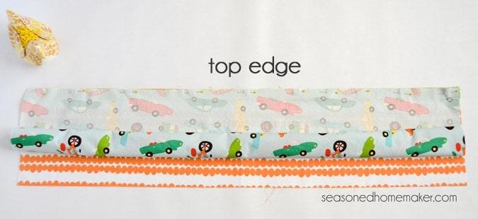 top edge
