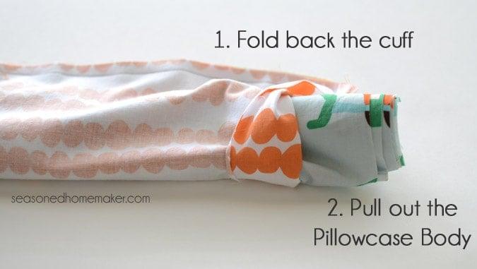 folded back cuff