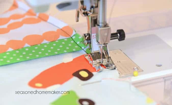 sewing French seam