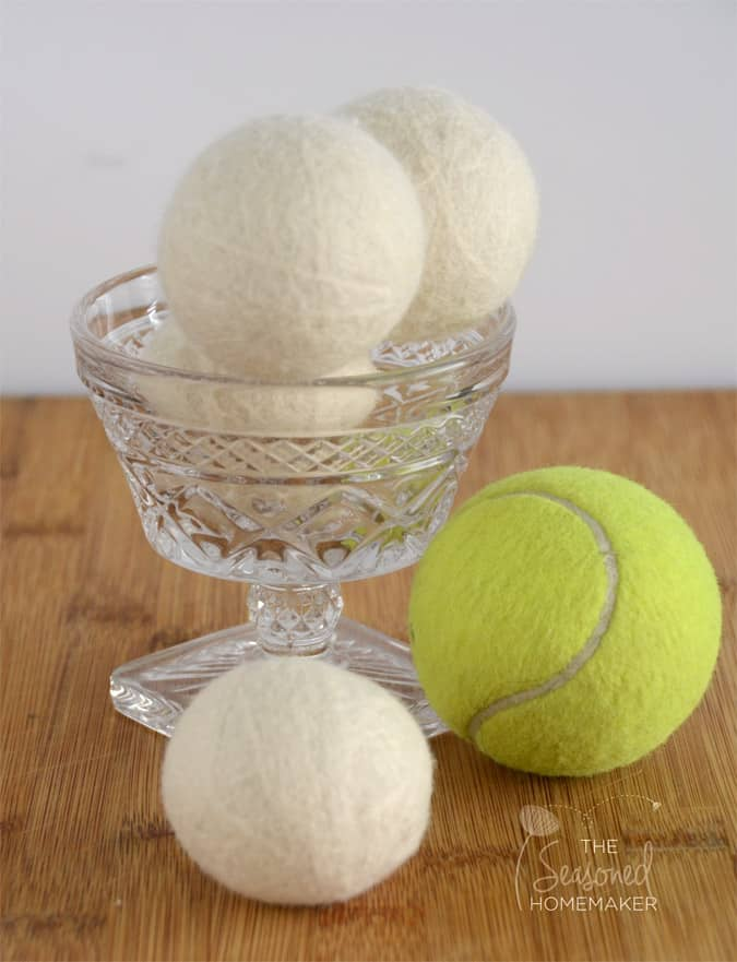 Learn How to Wool Make Dryer Balls and save money on drying your clothes. Felted Wool Dryer Balls are easy to make, budget friendly, and make great gifts.