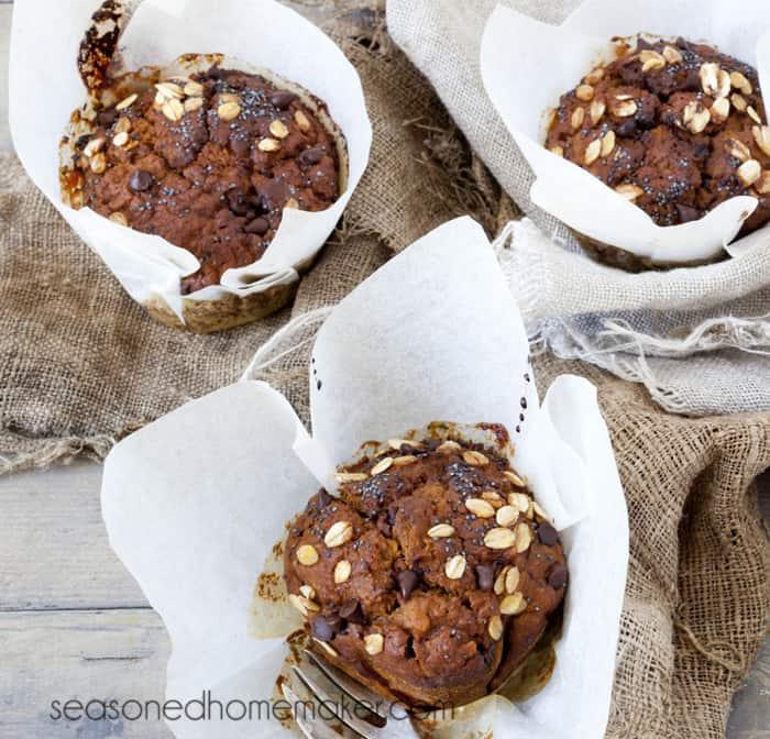 Grain Free Pumpkin Chocolate Chip Muffins