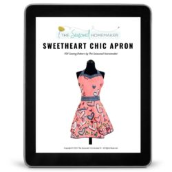 Sweetheart Chic Retro Apron Pattern iPad Cover