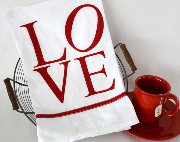Valentines Love Towel