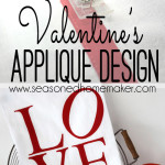 Valentine's Day Appliqué Tea Towel