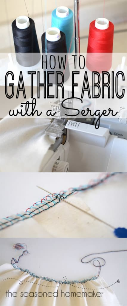 Learn how to gather fabric with a serger.