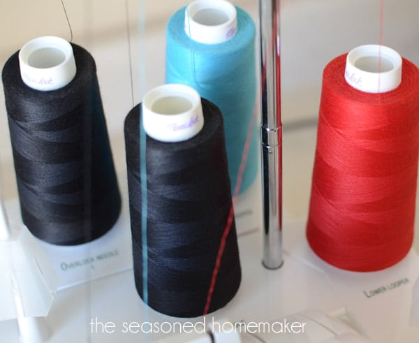 Did you know that you can easily gather fabric with your serger? No rethreading, no complicated change ups. Just two easy steps and your fabric is gathered!