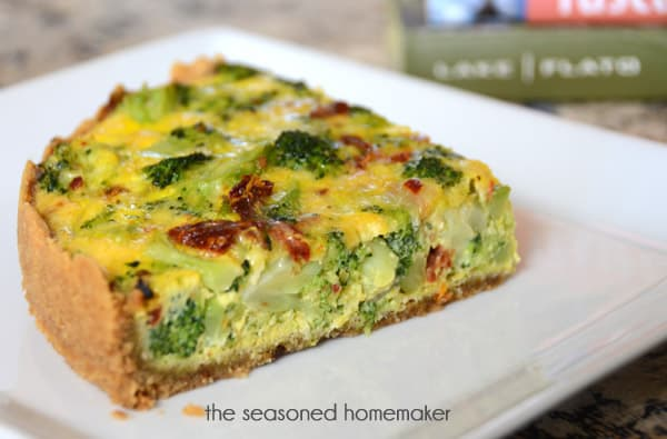 Gluten-Free, Grain-Free Vegetable Quiche with an almond flour crust. This is perfect for a Paleo Diet, Gluten-Free Diet, and can be adapted for Whole 30. And, it's delicious.