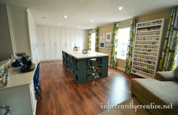 Sewing room ideas the seasoned homemaker for Sewing room floor plans