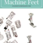 Did you know that you can drastically improve your sewing by just changing out a sewing machine foot? Learn which ones will make the most difference in this thorough series All About Sewing Machine Feet.