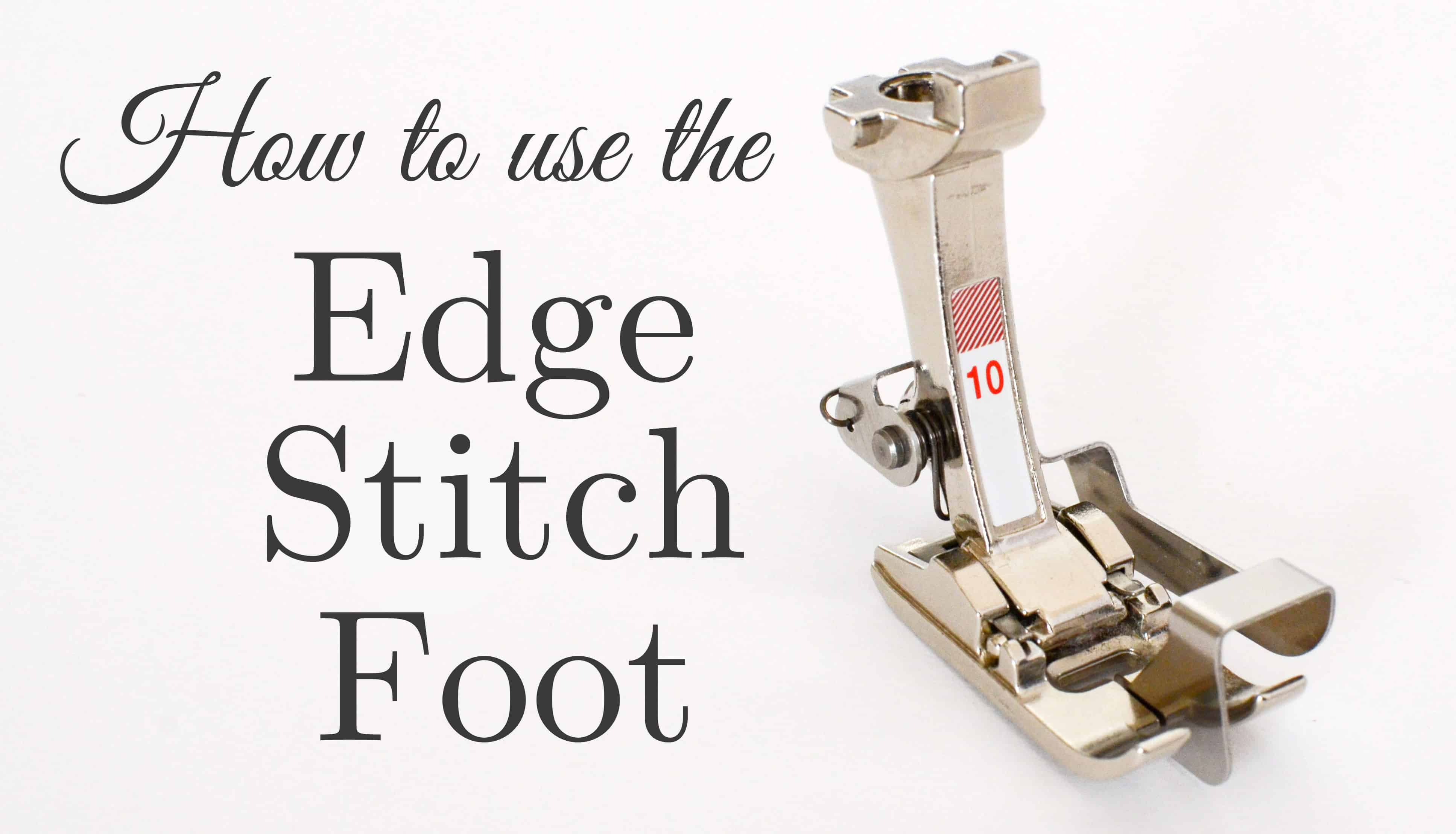 Ever wonder how sewists get perfect topstitching. The secret is to use an Edge Stitch Foot. Learn all about the secrets to better sewing with this amazing presser foot.