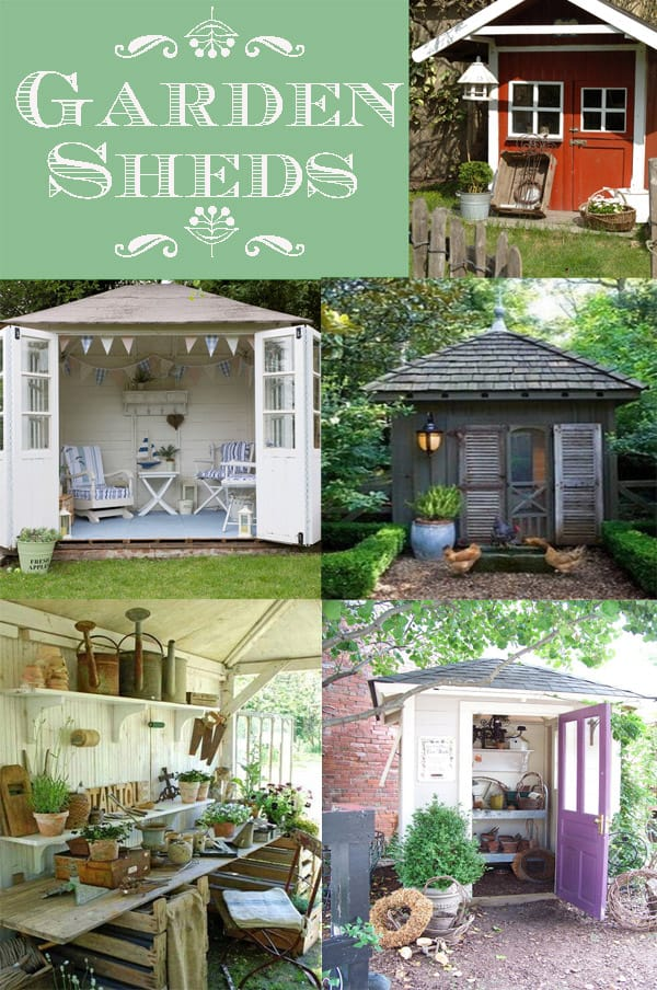 Garden Sheds Shabby Chic garden shed ideas. building a garden shed design ideas and plans