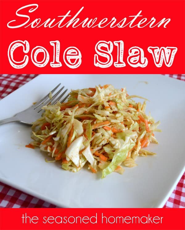 today i am sharing my favorite cole slaw recipe southwestern cole slaw