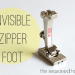 Sewing Machine Feet: Invisible Zipper Foot