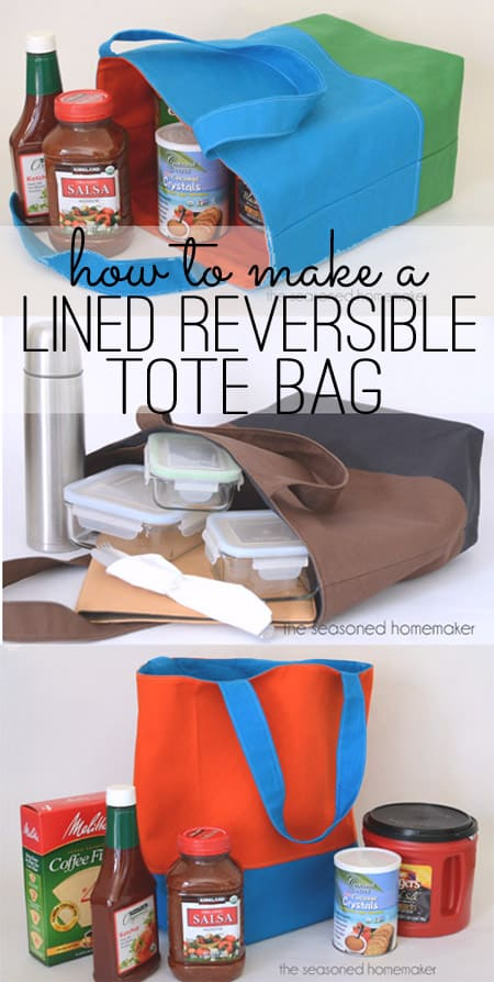 How to Make a Lined Reversible Tote