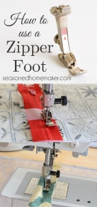 How to Use a Zipper Foot