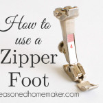 Sewing Machine Feet: The Zipper Foot