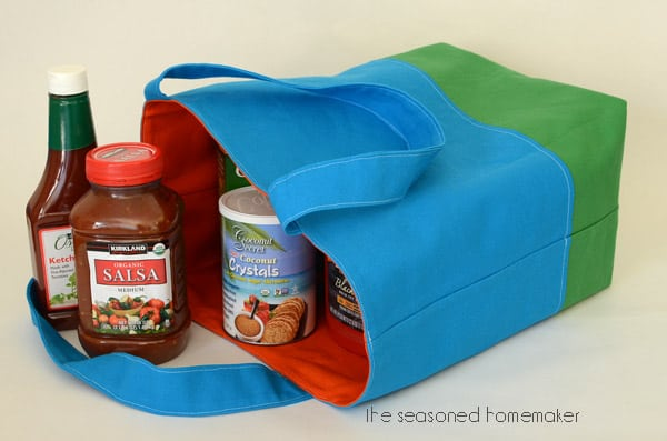 How to Make a Reversible, Lined, Tote Bag - The Seasoned Homemaker