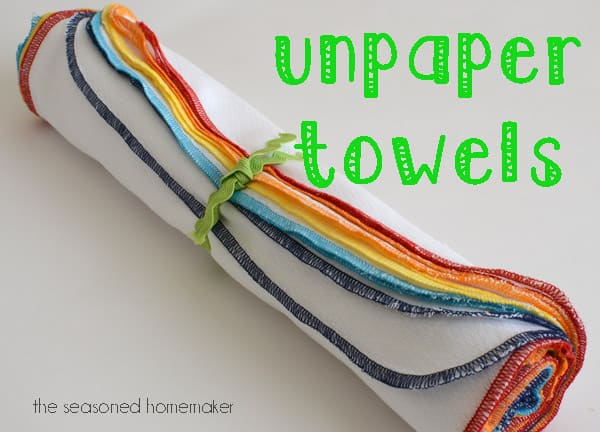 Homemade paper towels