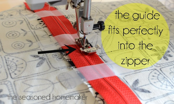 How to insert a zipper