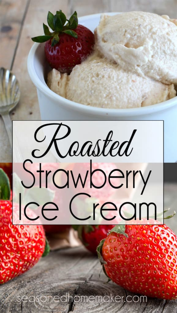 If you love strawberry ice cream in the summer then you should try Roasted Strawberry Ice Cream. Roasting the strawberries brings out a richer strawberry flavor. This is the best Strawberry Ice Cream you will ever eat.