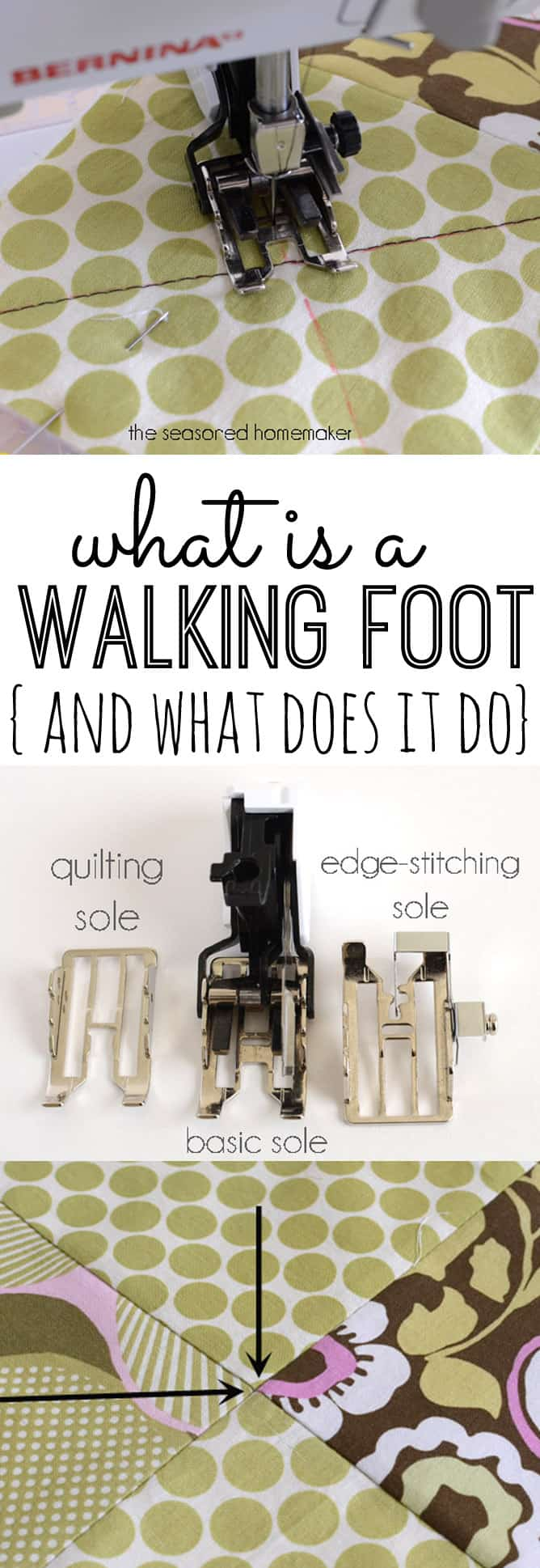 what is a walking foot sewing machine