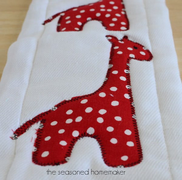Appliqued burp cloths