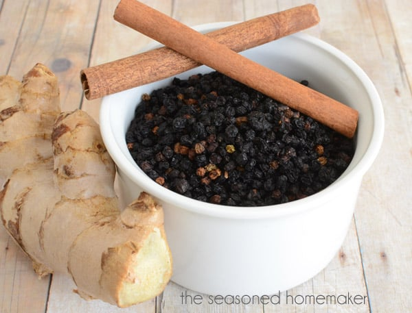 Elderberry syrup is an ancient folk medicine used to boost immunity, overcome cold and flu symptoms, and reduce sinus congestion. This simple recipe works on the stove and Instant Pot.