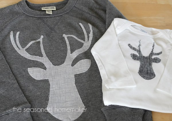 shirts with deer head applique