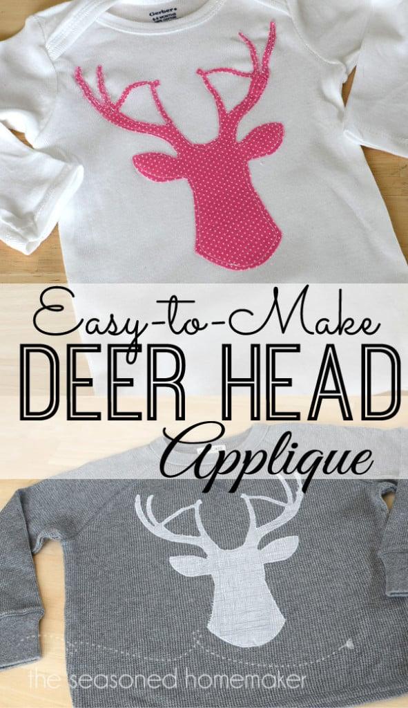 Deer Head Applique