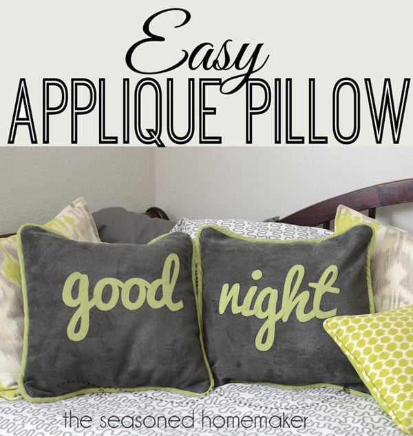 How to Applique Lettering to a Pillow