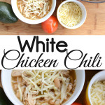 Our favorite comfort food to eat all year round is White Chicken Chili. It can be made on the stove or in a crock pot. The recipe is also gluten-free. Find out my favorite toppings which make it out of this world.