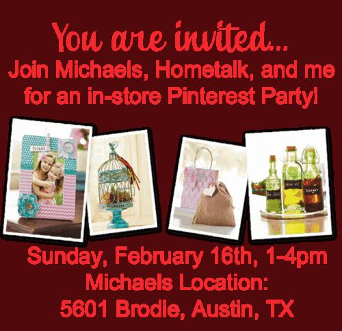 Hometalk Michaels Pinterest Party