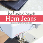 Learn the best way to hem your jeans. This method works great for shortening any garment with a double rolled hem. In the third photo you will understand why it's so fast and easy. Best of all, it doesn't leave bulk or create an additional seam at the bottom of your jeans. | Popular Pins