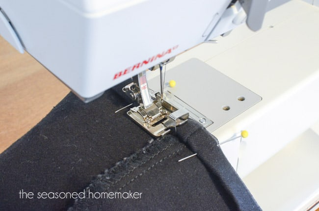 How To Hem Jeans The Seasoned Homemaker Enchanting How To Hem Jeans With Sewing Machine