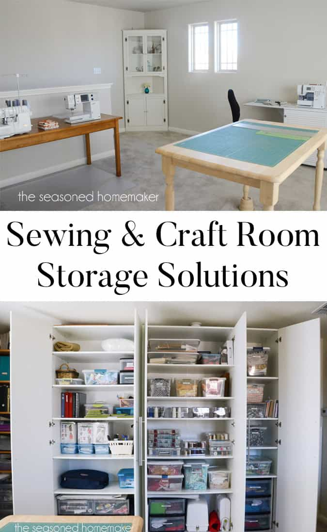 Sewing and Craft Room Storage: By its very nature a sewing and craft room will always be a mess. The best way to keep this under control is to have a few storage solutions that will help keep the clutter tamed.