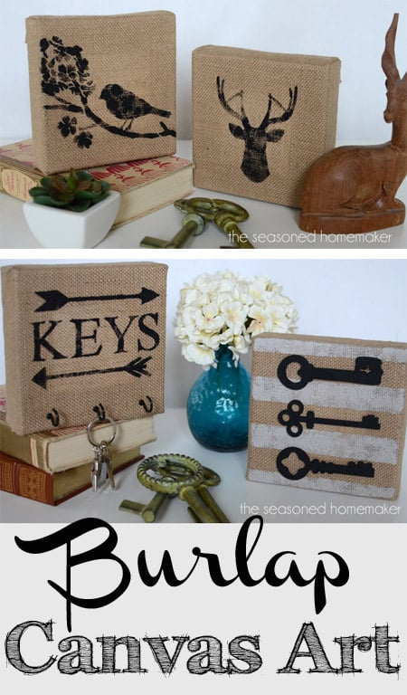 awesome burlap canvas projects our southern home