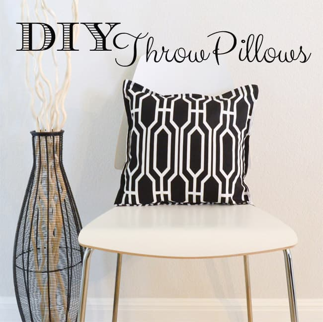 diy throw pillows - the seasoned homemaker Make Your Own Pillow Design
