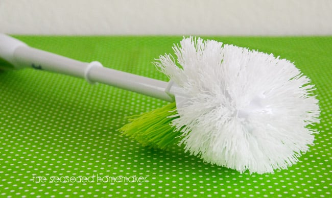 The lowly toilet brush  destined to be hidden behind toilets everywhere can  now step into the daylight and be placed out in the open   ready to perform  a. Sewing Room Cleaning Tips   The Seasoned Homemaker
